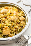 Prepared pilaf with rice Royalty Free Stock Photos
