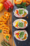 Prepared Pork Pinwheels Royalty Free Stock Images