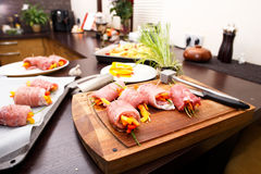 Prepared pork rolls Stock Image