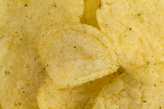 Prepared potato chips snack closeup view Royalty Free Stock Photo