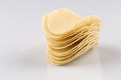 Prepared potato chips snack closeup view Stock Image