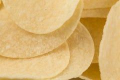 Prepared potato chips snack closeup view Royalty Free Stock Photo