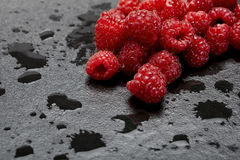 Prepared raspberries Stock Photography