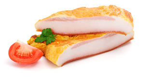 Prepared raw pork jowl Royalty Free Stock Images