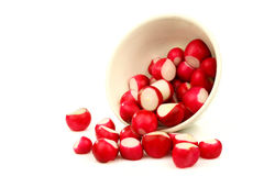 Prepared red radishes Stock Photography