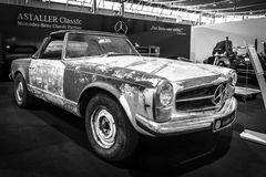 Prepared for the restoration of sports car Mercedes-Benz 230 SL Pagode (W113), 1968. Royalty Free Stock Image