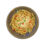 Prepared Rotini Pasta and Vegetable Meal Royalty Free Stock Photo