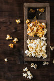 Prepared salted popcorn Royalty Free Stock Photography