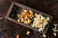 Prepared salted popcorn Stock Photography