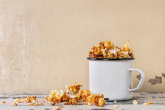Prepared salted popcorn Royalty Free Stock Photos