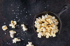Prepared salted popcorn Stock Image
