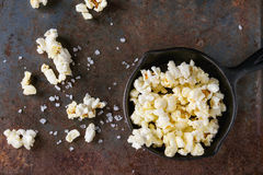 Prepared salted popcorn Royalty Free Stock Image