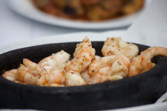 Prepared shrimp. On the table Stock Image