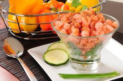Prepared shrimp. Royalty Free Stock Photos