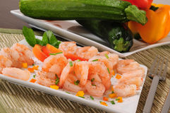 Prepared shrimp. Royalty Free Stock Photo