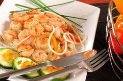 Prepared shrimp. Stock Image