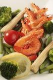 Prepared shrimp Stock Photo