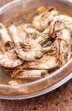 Prepared shrimps Stock Photography