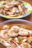 Prepared shrimps Stock Photo