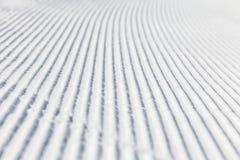 Prepared ski slope Stock Photos