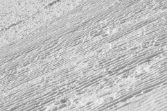 Prepared ski slope, snow pattern made by snowplow Royalty Free Stock Photography