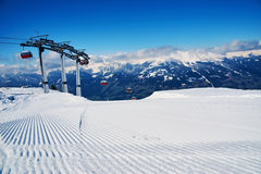 Prepared snowcat track Stock Image
