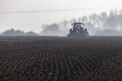 Prepared soil for spring planting stock images