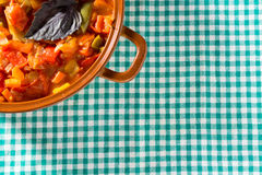 Prepared stew on a dishcloth Stock Images