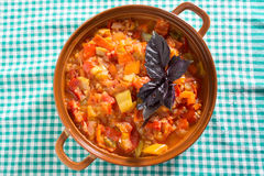 Prepared stew on a dishcloth Royalty Free Stock Photography