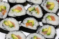 Prepared sushi homemade Stock Image