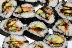 Prepared sushi homemade Stock Photo