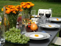 Prepared table Royalty Free Stock Photography