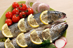 Prepared trout fish Royalty Free Stock Photo