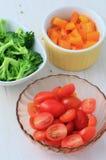 Prepared vegetables Royalty Free Stock Image