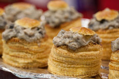 Prepared vol au vent at the caterer Stock Photography