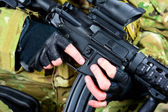 Prepared with weapons Stock Images