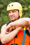 Prepared For White Water Rafting Stock Photo