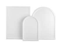 Prepared white wood panel for icon painting - blank iconography Stock Photo