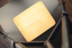 Prepared wooden desk Stock Images