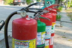 Preparedness for fire drill Royalty Free Stock Images