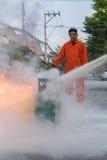 Preparedness for fire drill Stock Photos