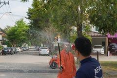 Preparedness for fire drill Stock Images
