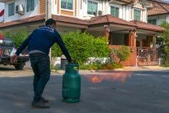Preparedness for fire drill Stock Image