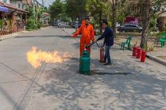 Preparedness for fire drill Stock Photo