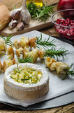 Prepareing for Baked Camembert with Garlic & Rosemary Stock Photography