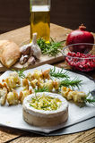 Prepareing for Baked Camembert with Garlic & Rosemary Royalty Free Stock Image