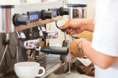 Prepares espresso Stock Photo