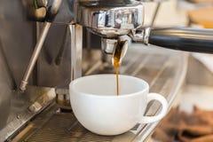 Prepares espresso Royalty Free Stock Photos