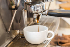 Prepares espresso Stock Photography