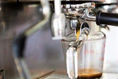 Prepares espresso Stock Photos